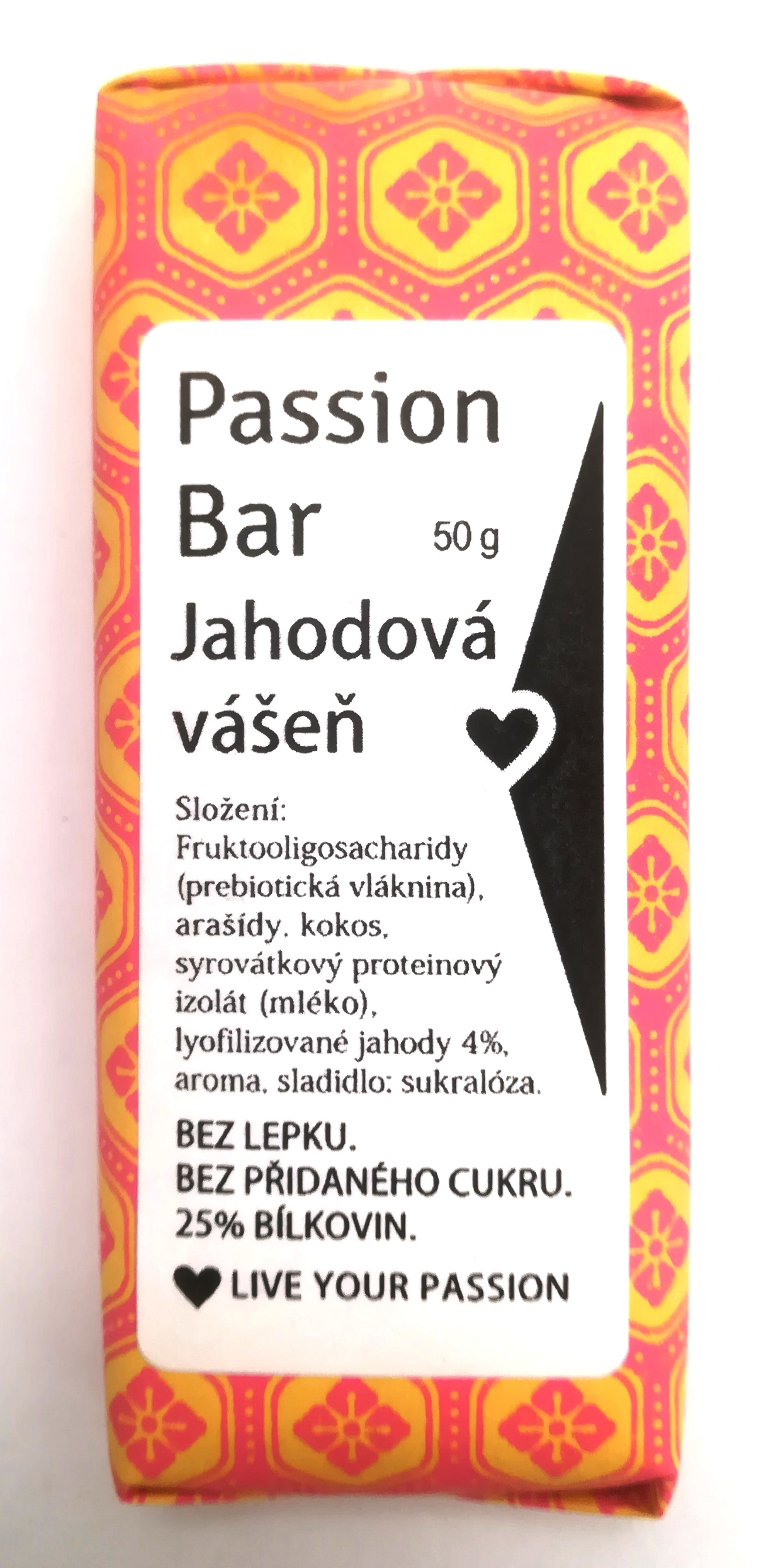 low carb PASSION BAR - JAHODOVÁ 50g