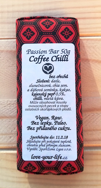 PASSION BAR - Chilli & Coffee s proteinem 50g