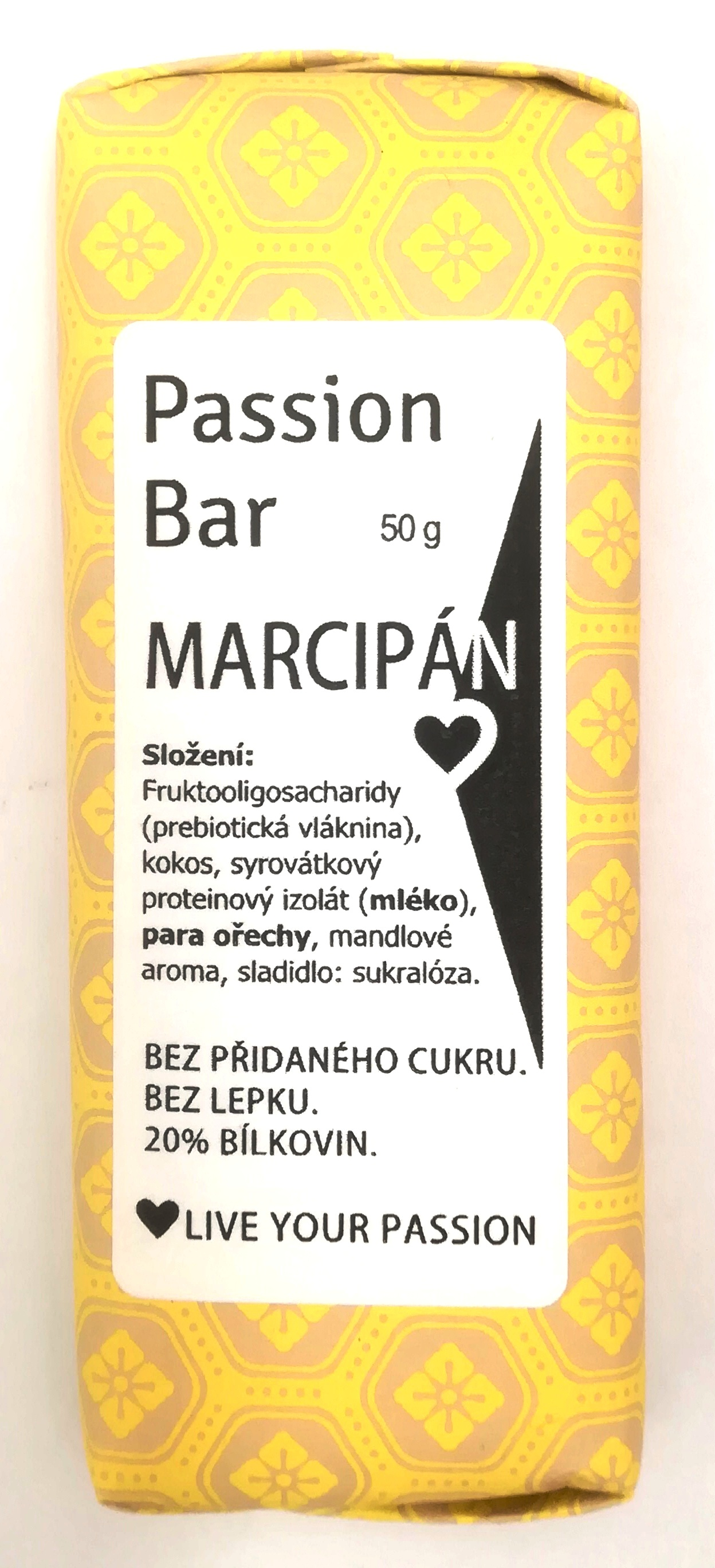 "low carb PASSION BAR - ""MARCIPÁN"" s proteinem 50g"
