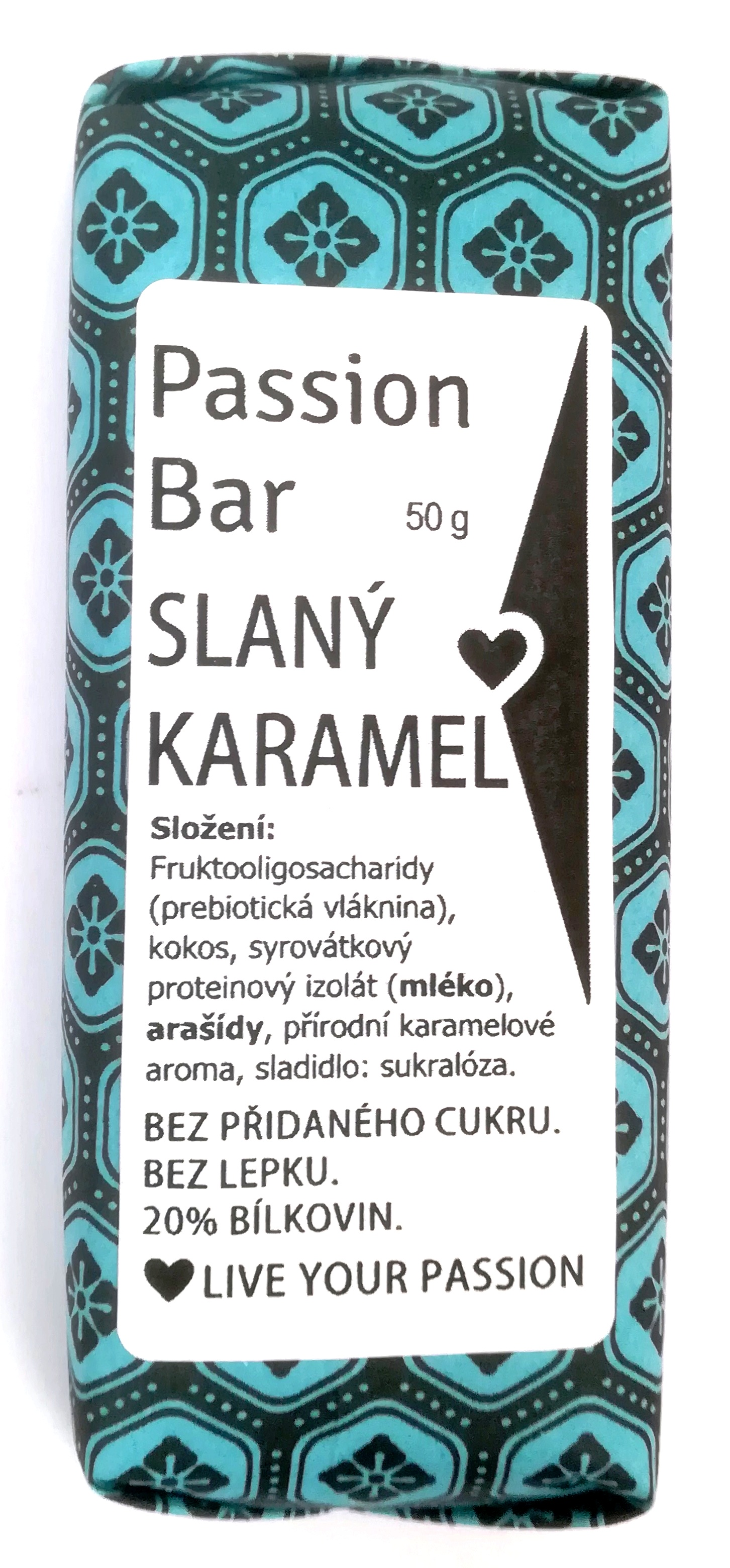 low carb PASSION BAR - SLANÝ KARAMEL 50g